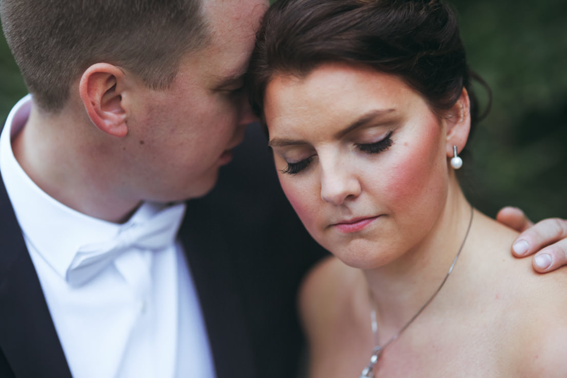 close up wedding portrait