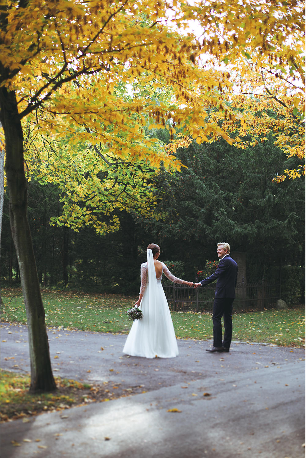 Nature wedding photo